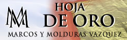 Hoja de Oro en Marcos y Molduras Vazquez - clic aqui